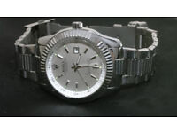 New Rolex Oyster Perpetual Mens Watch in Silver (also one Tag Heuer, Breitling,Armani, Casio Gshock)