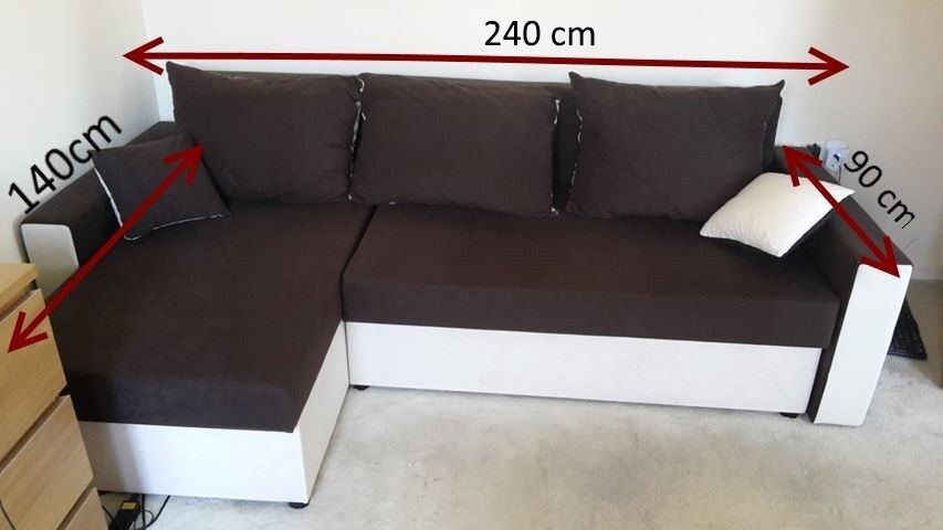 Corner Sofa Bed With Two Storage Compartments In Northampton