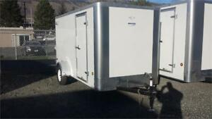 6' x 12' Enclosed Cargo Trailer, Single Axle Ramp door!
