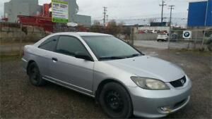 2005 Honda Civic COUPE 2 DOOR CLEAN GARANTIE 1 ANS