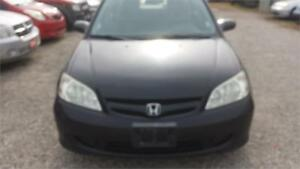 2005 HONDA CIVIC AUTOMATIC 4 DOORS WITH SAFETY & WARRANTY