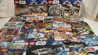 LEGO 5 lbs Star Wars Instruction Manuals Lot