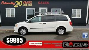 2011 DODGE GRAND CARAVAN C/V - 3.6l v6, LADDER RACK, DIVIDER
