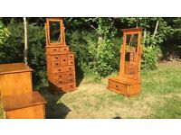 used, very well made and heavy Malaysian bedroom furniture set, DELIVERY POSSIBLE