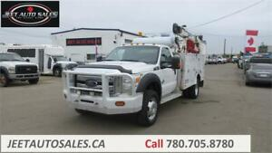2012 Ford Super Duty F-550 DRW XLT Service Truck with Crane
