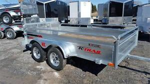 2018  Galvanized 5.5' X 10' Tandem axle trailer ** NO MORE PAINT