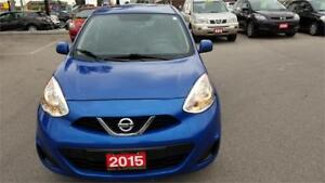 2015 NISSAN MICRA SV AUTO ONE OWNER BACK UP CAMERA WINTER TIRES