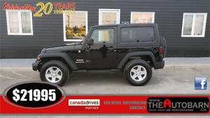 2013 JEEP WRANGLER SPORT - 6 speed, cruise, ONLY 84000KM!!