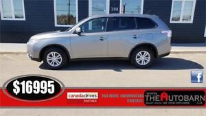 2015 MITSUBISHI OUTLANDER ES 4WD - cruise, bluetooth, htd seats.