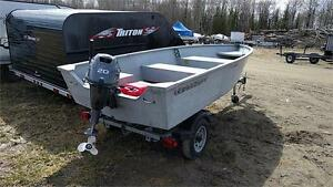 """14"""" ULTRA CRAFT SKIFF, 20HP YAMAHA AND TRAILER PACKAGE"""