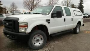 2009 Ford F250 4x4 XL super duty, 4 door, tow package, box cover