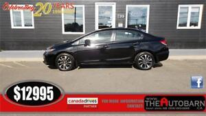 2014 HONDA CIVIC EX SEDAN - 5 SPEED, CRUISE, BLUETOOTH, MOONROOF