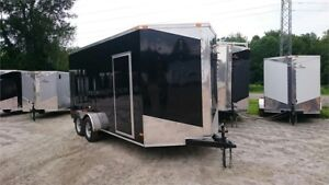 2018 NEW 7X16 EXTRA HEIGHT V-NOSE RAMP DOOR ENCLOSED TRAILERS