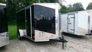 2018 NEW 7X12 V-NOSE CARGO TRAILER W/ ELECTRIC BRAKES