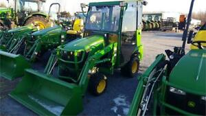 REDUCED PRICE!! 2015 JOHN DEERE 1025R TRACTOR WITH LOADER & CAB