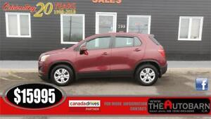 2015 CHEVROLET TRAX LS HATCH - cruise, bluetooth, ONLY 30000KM!