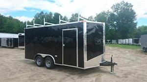 NEW 8,5x16 7ft HIGH ENCLOSED CARGO TRAILER w/5200lbs AXLE
