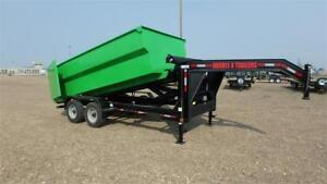 2018  16' Gooseneck Roll Off Dump Trailer (22000 GVW) Double A