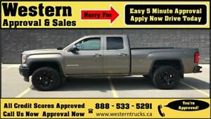 2014 GMC Sierra 1500 SLE 4x4 Z71 LIFTED! 5 min Approval $274 B/W