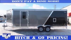 INSULATED-8.5 x 22+4 Enclosed Sled Trailer. Hitch & GO pricing!