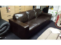 Ex-display top grade natural hide leather 3 seater