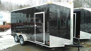 IN STOCK** NEW 7X16 7'HIGH V-NOSE RAMP DOOR ENCLOSED TRAILERS