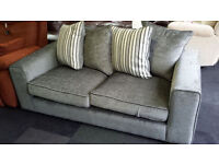 New clearance fabric 3 seater sofa with scatter back cushions