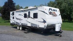 2010 Forest River Puma DBSS30 -30' Double Bunk 1 Slide
