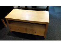 Ex-display clearance wooden TV unit 2 drawers