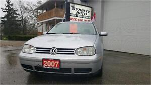 2007 Volkswagen Golf City 2.0 / CERTIFIED / DYNASTY AUTO