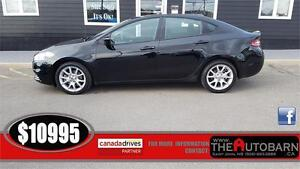 2013 DODGE DART SXT SEDAN - Cruise, bluetooth, ONLY 78000KM