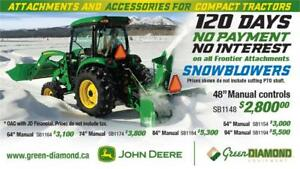 FRONTIER SNOW BLOWERS 120 DAYS 0 PAYMENT 0 INTEREST