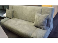 New clearance jumbo cord bonnel sprung quality storage sofabed