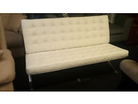 Ex-display modern barcelona leather 2 seater