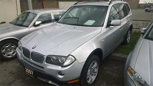 2007 BMW X3 silver on black leather