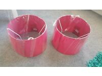 Brand new NEXT pink light Drum shade for table lamps and pendants