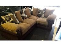 NEW CLEARANCE Large brown jumbo cord corner sofa