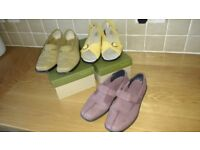 3 PAIR LADIES HOTTERS SHOES SIZE 6