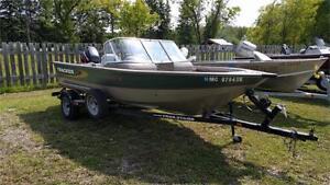 Tracker Deep V 17, 60hp Mercury 4 stroke and trailer