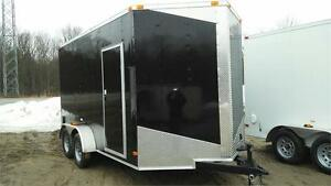 NEW 7X12 DOUBLE AXLE ENCLOSED TRAILERS 2017
