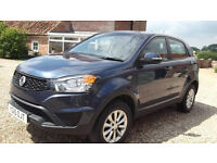 2015 SSANGYONG KORANDO SE 2.0TD Warranty until 2020 + next service is free