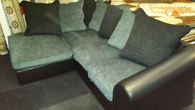 Ex-display Clearance fabric & leather corner sofa