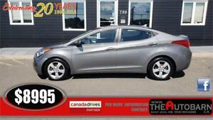 2013 HYUNDAI ELANTRA GLS SEDAN - 6 speed, cruise, bluetooth