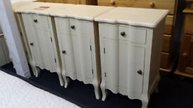New clearance french style cream 1 door 1 drawer bedside cabinet
