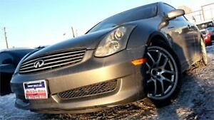 2006 Infiniti G35 Coupe, 80K ON NEW ENGINE, 6SPD MANUAL, LEATHER