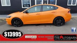 2014 DODGE DART SXT - 6 SPEED MANUAL - CRUISE - ONLY 65162KM