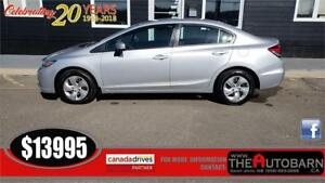 2015 HONDA CIVIC LX SEDAN - CRUISE, BLUETOOTH, ONLY 93000KM