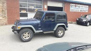 2002 JEEP TJ 4X4 - 2 INCH LIFT - 32 INCH WHEELS - AS IS SPECIAL