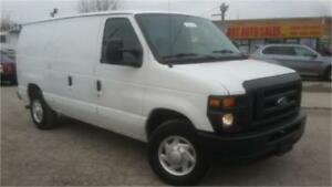 2008 Ford E250 Cargo Van, Dual Shelving units/tool box, AC!