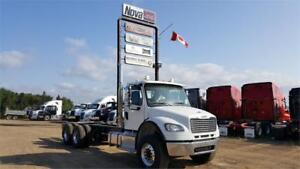 2019 FREIGHTLINER M2 106 WHITE CHASSIS
